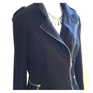 Asymmetrical Knit Jacket-Small